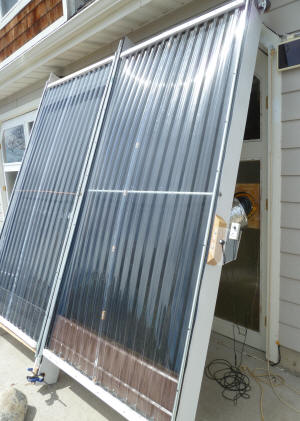 Solar Air Heating Collector With Alum Downspout Absorber