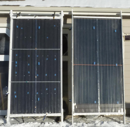 Test Of Heat Transfer From Front To Back Of A Solar Air