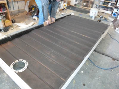 how to fix hole heating duct with aluminum sheet