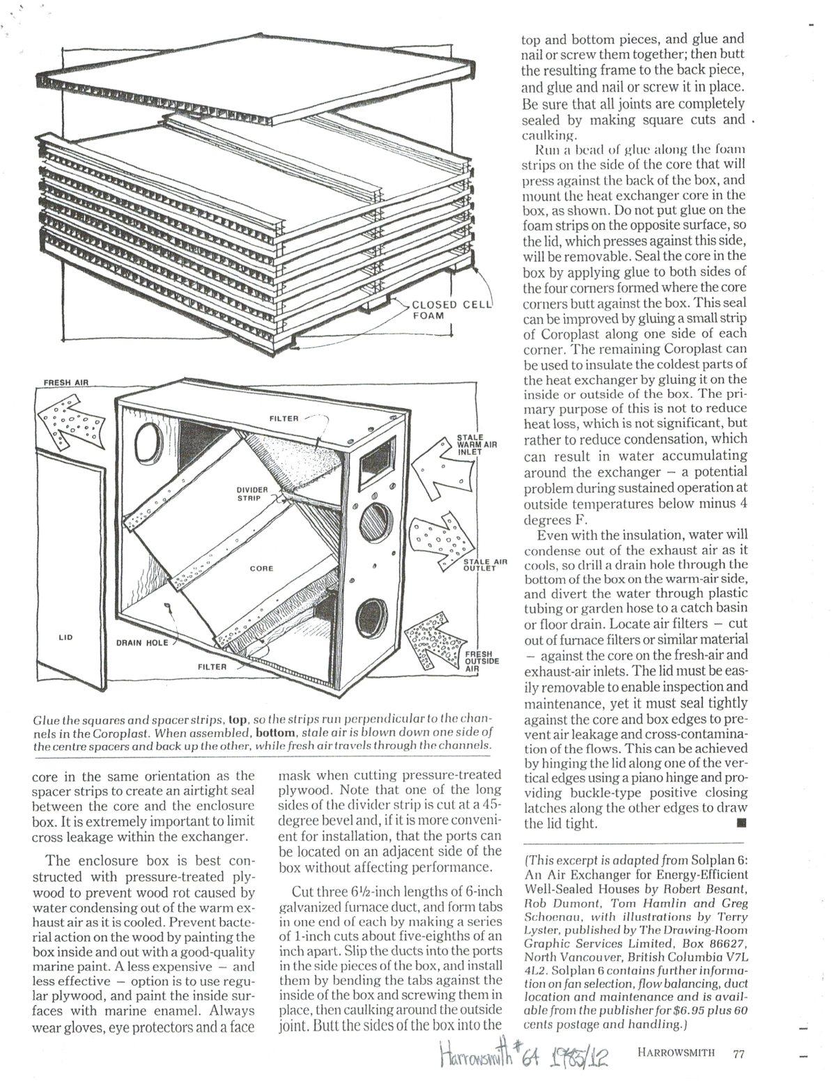 Diy Heat Recovery Ventilator Hrv Plans