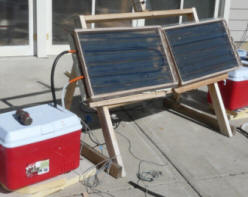 Comparing Solar Collector Performance Small Panel Tests