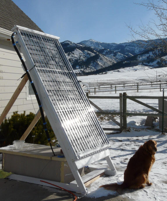 Solar Collector using PEX Tubing
