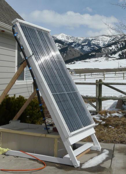 solar collector using pex tubing
