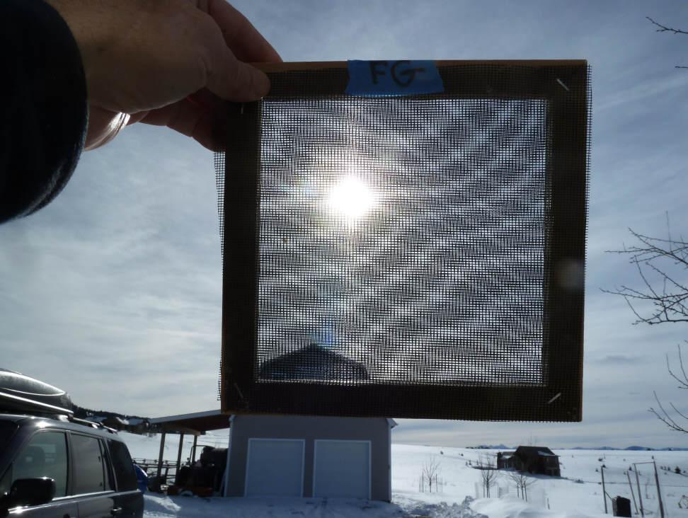 Window Screen As A Solar Collector Absorber