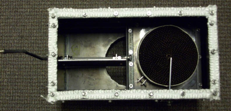 With the bypass damper fully open - Improving Efficiency Of Older Wood Burner -- Adding Catalytic