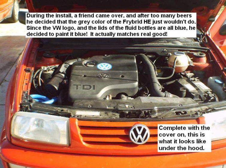 Complete with Cover Under the Hood convert vw diesel to run on straight vegetable oil 2002 VW Beetle Fuse Box Diagram at n-0.co
