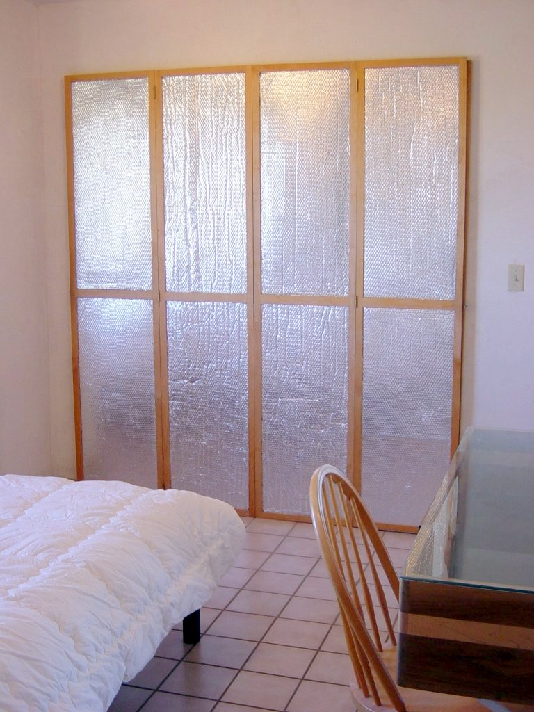 insulating window or door shutters using astrofoil reflective insulation. Black Bedroom Furniture Sets. Home Design Ideas