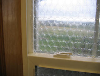 Bubblewrap for High insulation windows