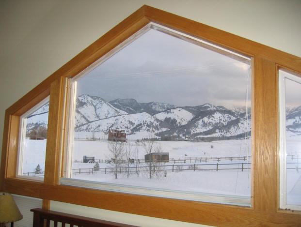 Dual Pane Interior Storm Window From Mylar Film