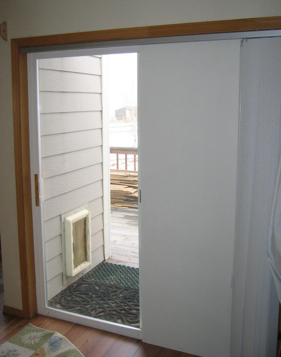 How to insulate sliding glass doors