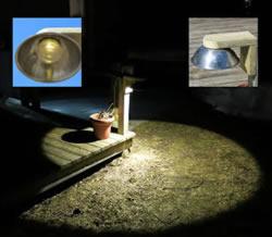 diy shielded garden light