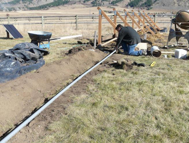 diy pv system the underground wiring rh builditsolar com Electrical Wiring underground wiring conduit repair