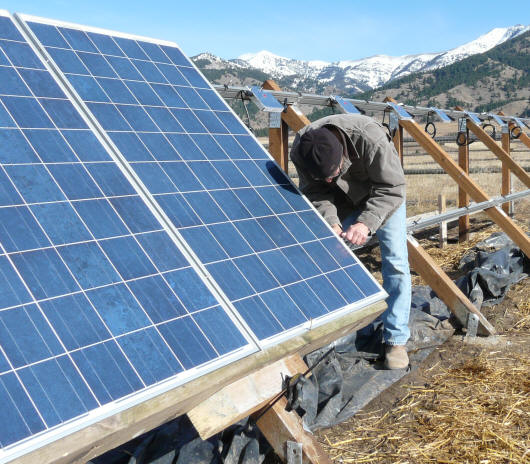 Diy Solar Pv System Mounting Pv Panels And Inverters
