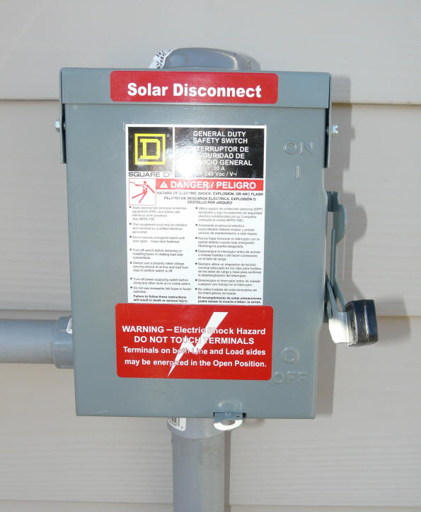 DIY PV System Installation -- Wiring Solar Disconnect Wiring Diagram on welding diagram, rigging diagram, battery diagram, disconnect switch diagram, piping diagram, shields diagram, starter diagram, fuel line diagram,