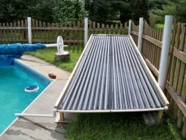 DIY Solar Pool Heating Collector