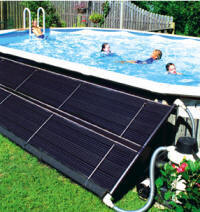 Solar pool heating for Cubre piscinas bestway