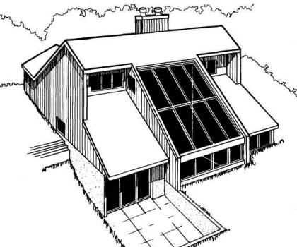 Passive solar home plans western section for Solar energy house designs