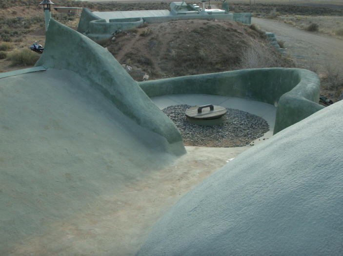 Earthship water system for Cisterna water