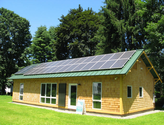 Zero energy home in ma for Solar powered home designs