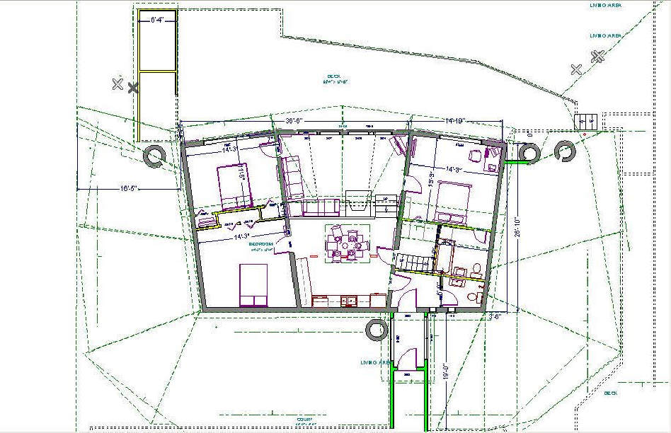 Earth sheltered house plans floor plans for Earth homes floor plans