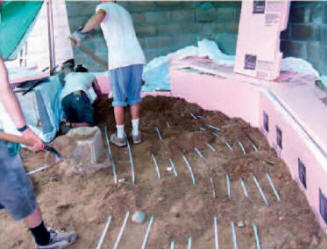 Solar Heating With Sand Bed Heat Storage