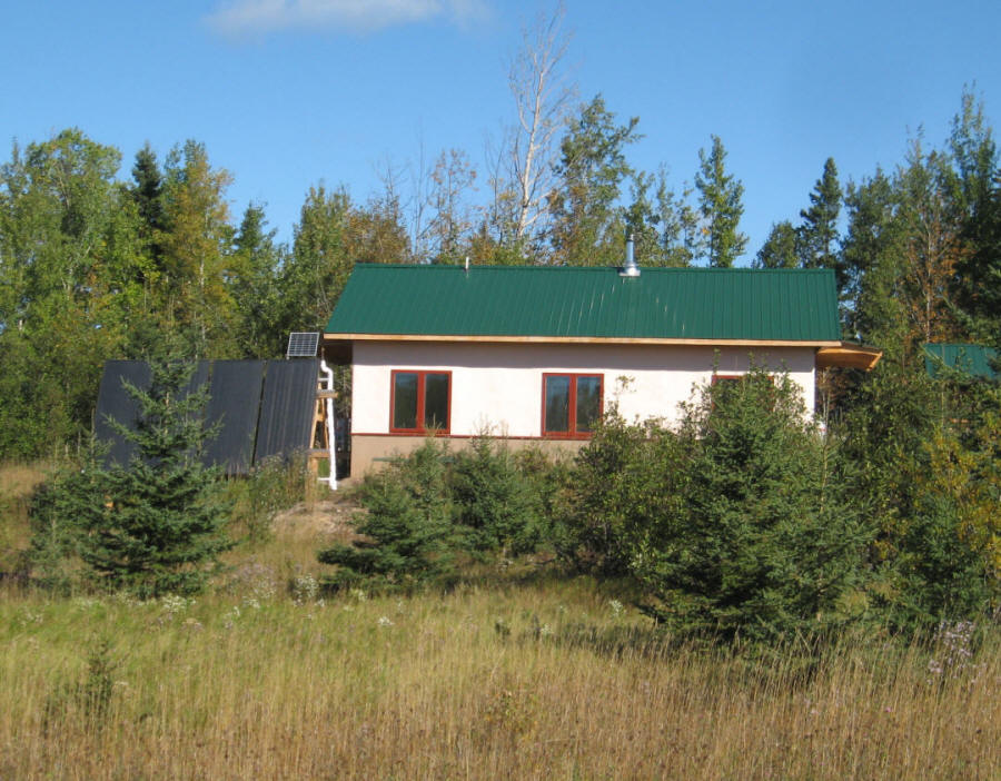 Solar sandbed storage home in northern minnesota for How much to build a house in mn