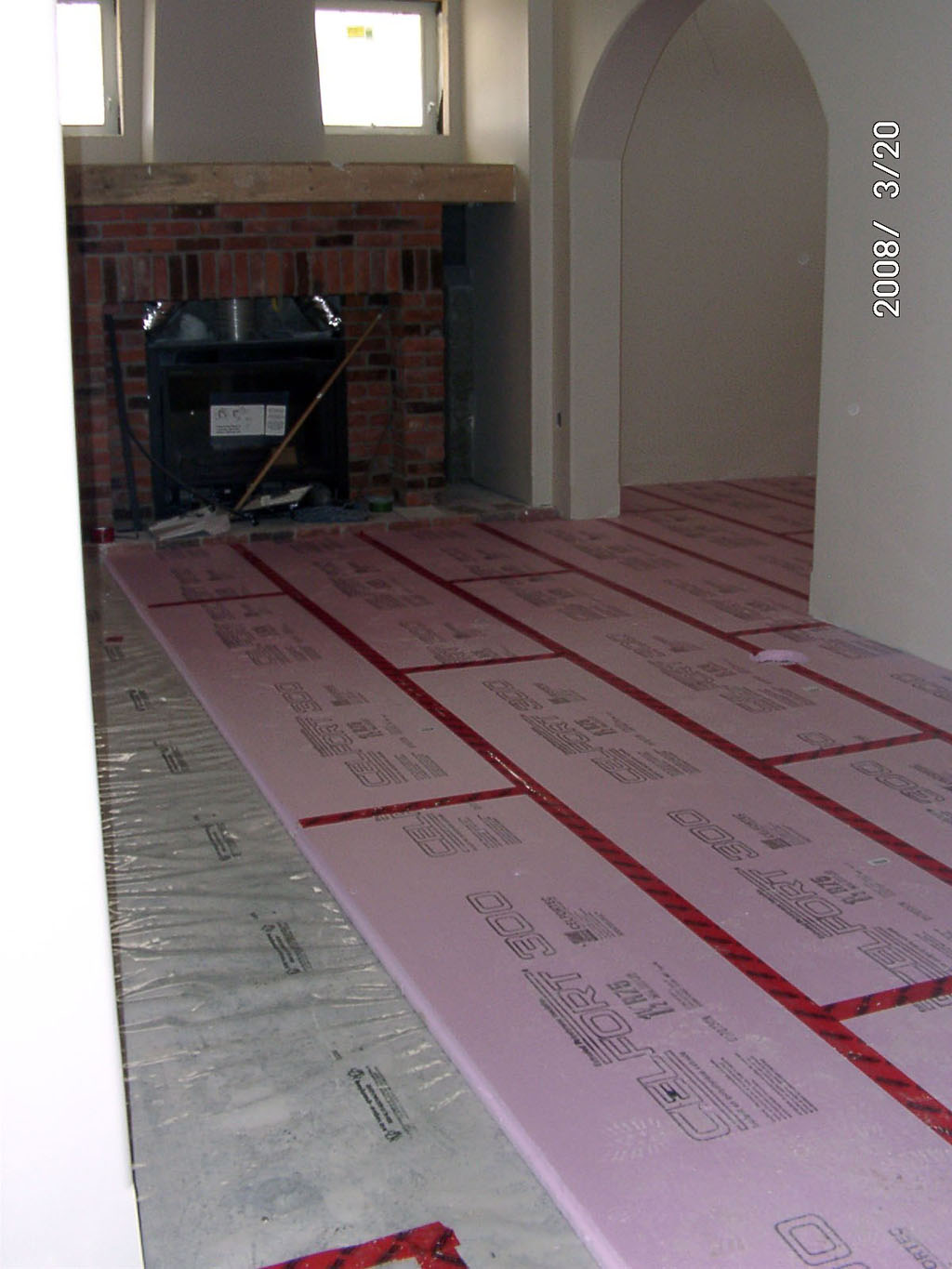 Type Iv Xps Foam Board Insulation Was Used Under All Finish Flooring