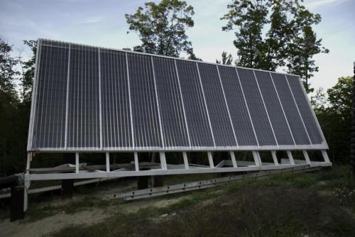 Diy hot water solar in maine for Diy solar collector