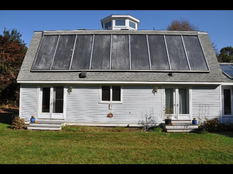 Large 1985 Solar Air Space Heating Collector Marches On