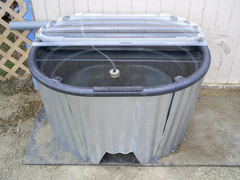 how to fix the lid on a tin water tank