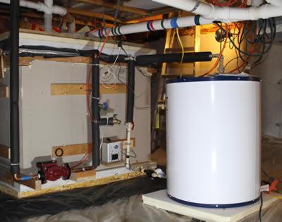 Solar Backup Heating System