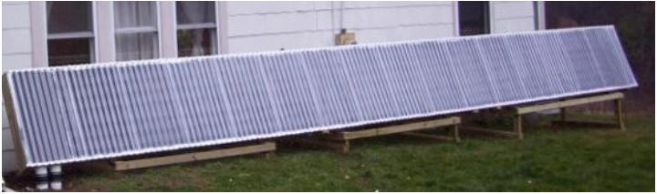 Two Solar Air Heating Collectors Using Gutter Downspout