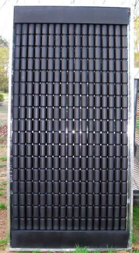 Greg's Pop-Can Solar Space Heating Collector GregCa2