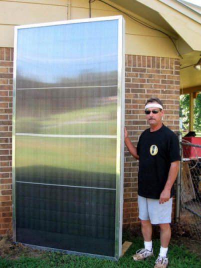 Survivalgearup pop can solar space heating collector for Make your own solar panels with soda cans