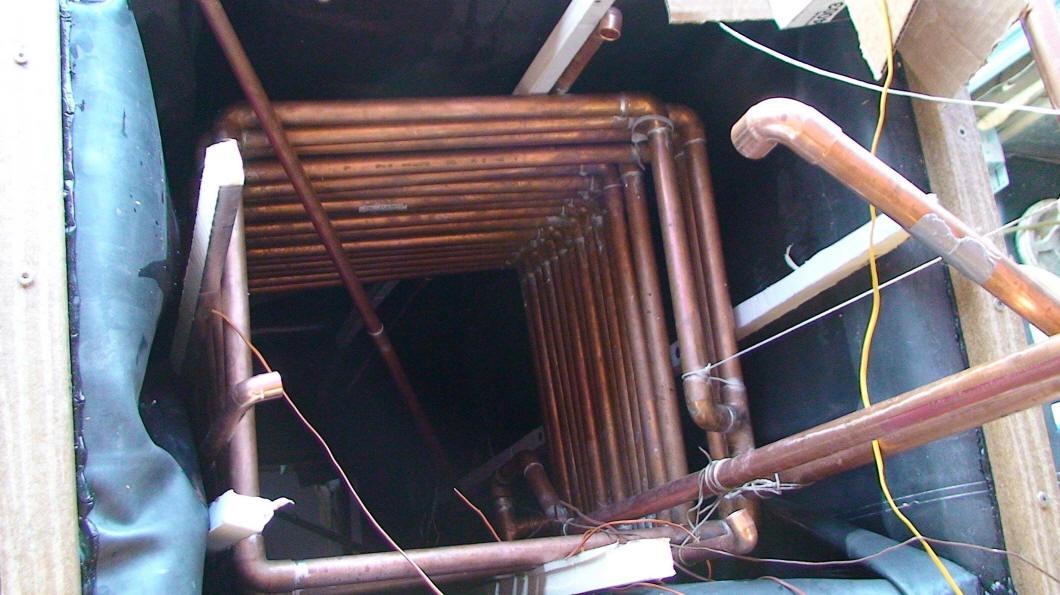 Homemade Copper Aluminum Solar Space Heating Collector Bank