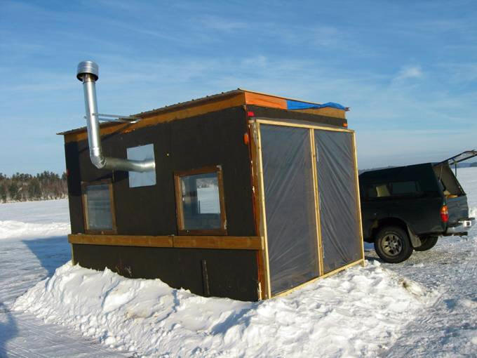 Bob 39 s solar heated ice shack for Fish house heaters