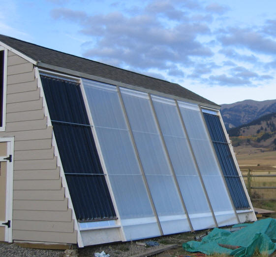 Solar Shed -- Shed and Collector Wall
