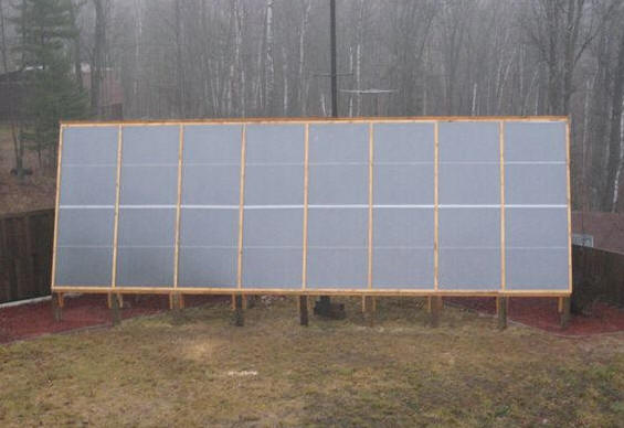 Large diy solar space heating system for Garage floor heating systems