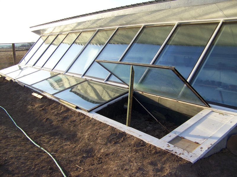A Bermed Solar Heated Greenhouse In Idaho