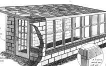 Earthbag Building: Attached Greenhouse Plan