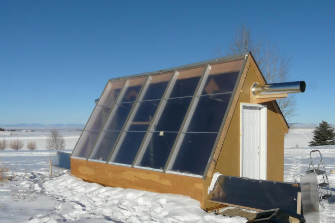 Low Thermal Mass Attached Sunspaces For Home Solar Heating