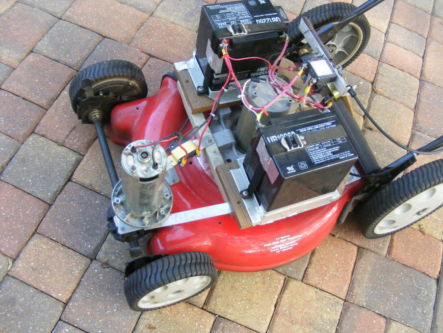 Diy Solar Powered Self Propelled Electric Mower Conversion