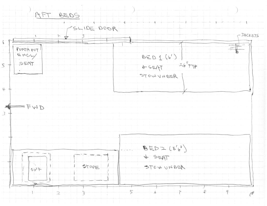 Aft Bed Layout