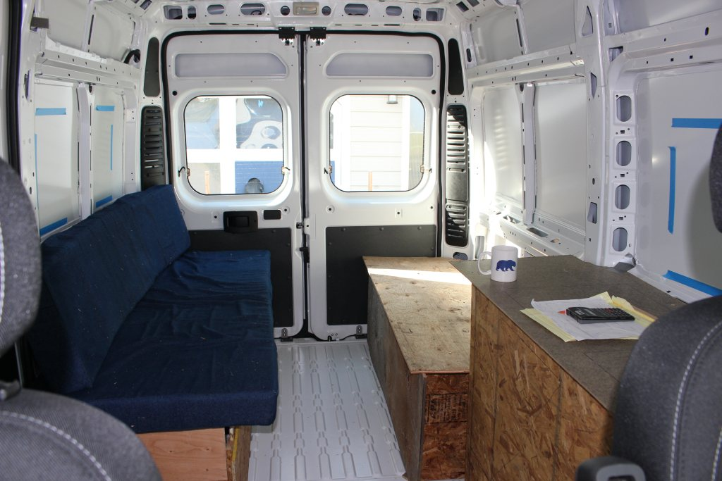 promaster diy van conversion layout. Black Bedroom Furniture Sets. Home Design Ideas