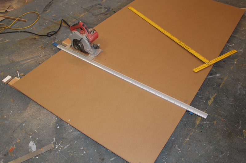 cutting bed pieces