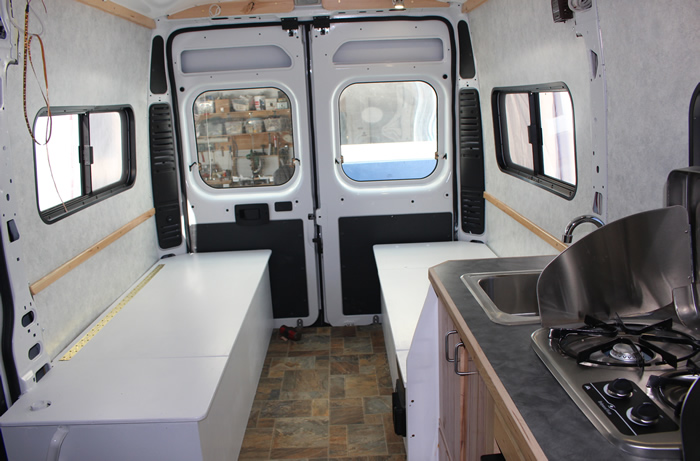 Bed Area Van Conversion