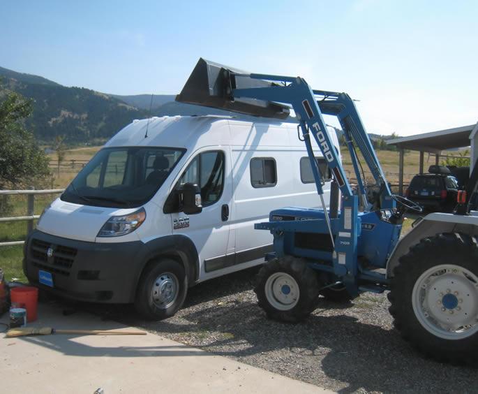 Promaster Camper Van Conversion Galley