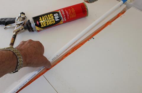 Promaster diy camper van conversion floor for Pex water pipe insulation