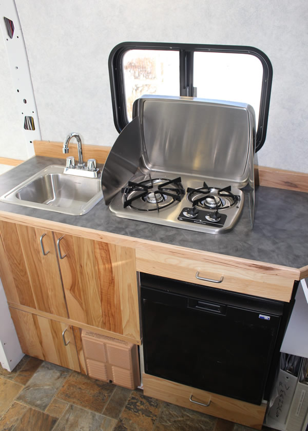 Promaster Camper Van Conversion Galley
