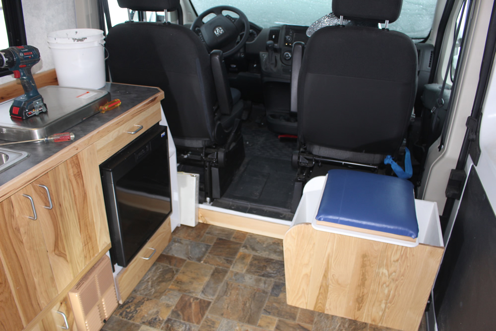 ProMaster DIY Camper Van Conversion -- DIY Composting Toilet